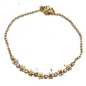AVON Ankle Bracelet Anklet Gold flowers